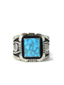 Kingman Turquoise Ring Size 14 1/4 by Cooper Willie (RG5115)