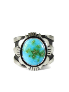 Kingman Turquoise Ring Size 12 1/2 by Cooper Willie (RG5116)