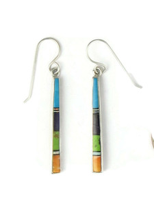 Multi Gemstone Inlay Earrings by Rick Tobias (ER3733)
