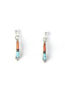 Small Multi Gemstone Inlay Earrings by Ervin Hoskie (ER3736)