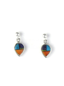 Multi Gemstone Inlay Earrings (ER5887)
