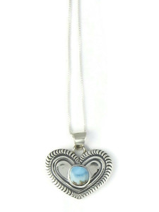 Golden Hills Turquoise Heart Pendant (PD4322)