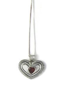 Garnet Heart Pendant (PD4329)