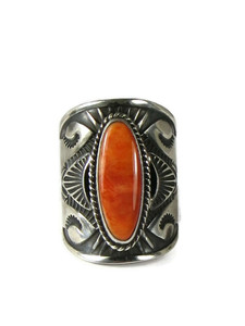 Spiny Oyster Shell Cigar Band Ring Size 8 by Derrick Gordon (RG5117)