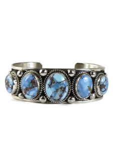 Golden Hills Turquoise Row Bracelet by Albert Jake (BR6386)