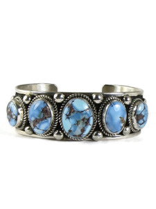 Golden Hills Turquoise Row Bracelet by Albert Jake (BR6386)