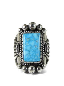 Water Web Kingman Turquoise Ring Size 13 by Albert Jake (RG5144)