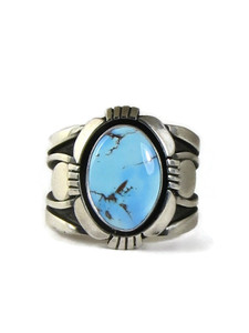 Golden Hills Turquoise Ring Size 14 by Cooper Willie (RG5146)