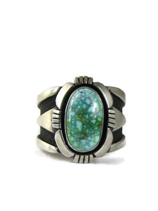 Spider Web Sonoran Turquoise Ring Size 13 by Cooper Willie (RG5149)