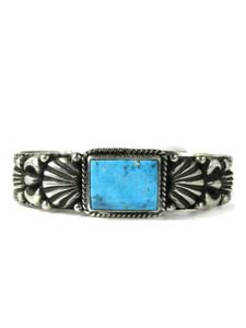 Kingman Turquoise Bracelet by Tsosie White (BR6400)