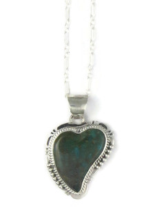 Turquoise Mountain Turquoise Heart Pendant by John Nelson (PD4368)