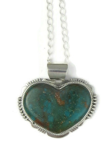 Turquoise Mountain Heart Pendant by John Nelson (PD4369)