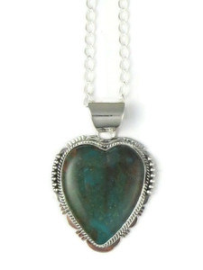 Turquoise Mountain Heart Pendant by John Nelson (PD4370)