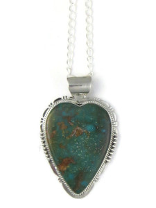 Turquoise Mountain Heart Pendant by John Nelson (PD4371)