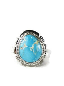 Kingman Turquoise Ring Size 7 by Larson Lee (RG5154)