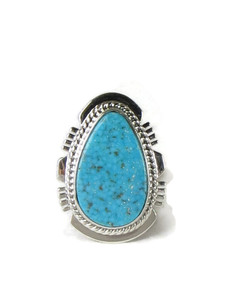 Kingman Turquoise Ring Size 7 by Larson Lee (RG5155)
