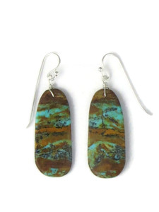 Turquoise Slab Earrings by Ronald Chavez (ER5825)