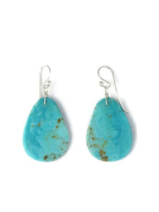 Turquoise Slab Earrings by Ronald Chavez (ER5826)