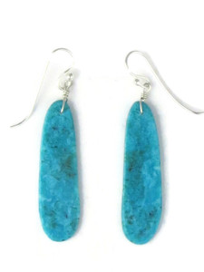 Turquoise Slab Earrings by Ronald Chavez (ER5827)