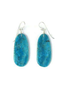Turquoise Slab Earrings by Ronald Chavez (ER5836)