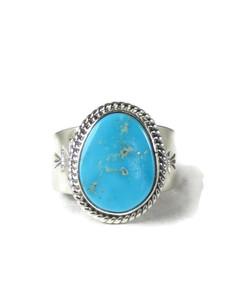 Kingman Turquoise Ring Size 10 by John Nelson (RG5161)