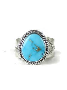 Kingman Turquoise Ring Size 10 by John Nelson (RG5162)