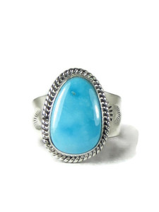 Sleeping Beauty Turquoise Ring Size 11 by John Nelson (RG5163)