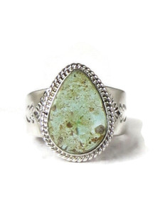 Dry Creek Turquoise Ring Size 12 by John Nelson (RG5165)