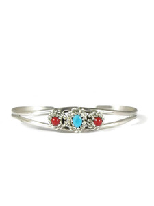 Turquoise & Coral Baby Bracelet (BR0688)