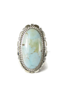 Dry Creek Turquoise Ring Size 9 by Larry Yazzie (RG5169)