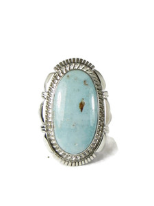 Dry Creek Turquoise Ring Size 8 by Larry Yazzie (RG5170)