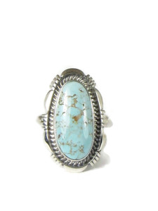 Dry Creek Turquoise Ring Size 8 by Larry Yazzie (RG5171)