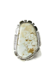 Dry Creek Turquoise Ring Size 7 by Larry Yazzie (RG5176)