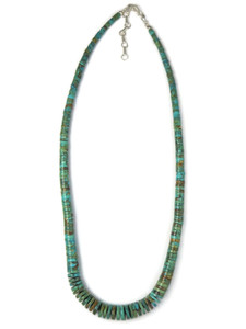 "Turquoise Heishi Necklace 17 3/4"" (NK4875)"