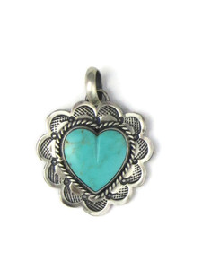 Turquoise Heart Pendant (PD4360)