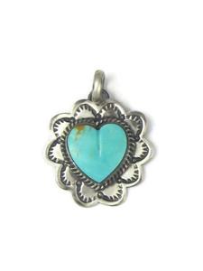 Kingman Turquoise Heart Pendant (PD4361)