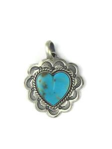 Kingman Turquoise Heart Pendant (PD4373)