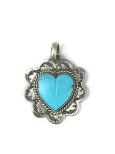 Kingman Turquoise Heart Pendant (PD4374)