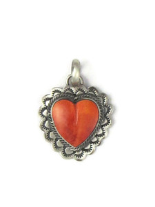 Spiny Oyster Shell Heart Pendant (PD4375)