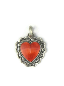 Spiny Oyster Shell Heart Pendant (PD4376)