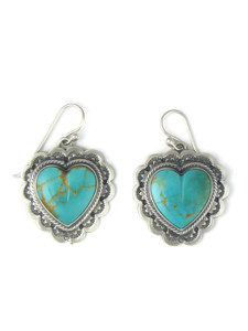 Kingman Turquoise Heart Earrings (ER4100)