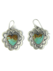 Kingman Turquoise Heart Earrings (ER4101)