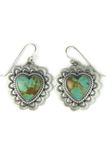 Kingman Turquoise Heart Earrings (ER4102)