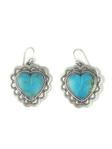 Kingman Turquoise Heart Earrings (ER4103)