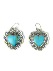Kingman Turquoise Heart Earrings (ER5126)