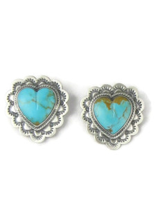 Kingman Turquoise Heart Post Earrings (ER5127)