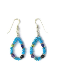Turquoise & Gemstone Beaded Earrings (ER5865)