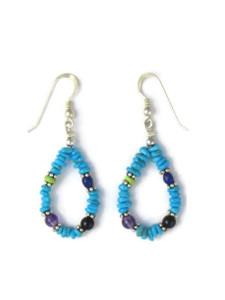 Turquoise & Gemstone Beaded Earrings (ER5865)