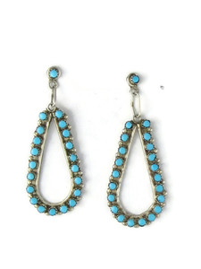 Turquoise Loop Earrings by Jane Quam (ER5866)