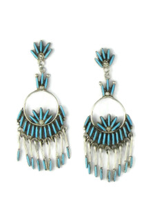 Turquoise Needle Point Dangle Earrings by J Lastiyano (ER5881)